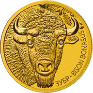 Belarus 2012 50 rubles BISON. BISON BONASUS Proof Gold Coin