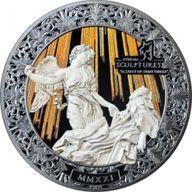 Ecstasy of Saint Teresa Eternal Sculptures 2 oz Black Proof Silver Coin 10$ Palau 2021