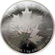 Maple Leaf - The Convex Kilo 1 Kilo Proof Silver Coin 250$ Canada 2018