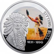 Sitting Bull Great Commanders Proof Silver Coin 1$ Niue 2010