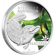 Discover Australia - Platypus Colored 1 oz Proof Silver Coin 1$ Australia 2013
