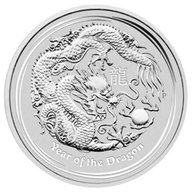 Australia 2012 1/2$ Year of the Dragon UNC Silver Coin