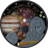 Treasures of the Universe Galileo Galilei 1 oz BU Silver Coin 5 Cedis Republic of Ghana 2018