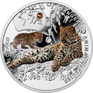 Amur Leopard - Endangered Animal Species 1/2 oz Proof Silver Coin 1$ Niue 2014
