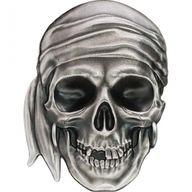 Pirate Skull 1 oz Antique finish Silver Coin 5$ Palau 2017