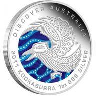 Discover Australia  - Kookaburra Proof Silver Coin 1$ Australia 2011