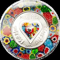 Cook Islands 2015 5$ Murrine Millefiori Venetian Murano Glass Art  Proof Silver Coin