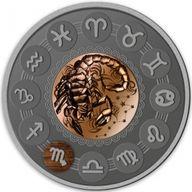 Scorpio Zodiac Signs 1oz Antique finish Silver Coin 1$ Niue 2020