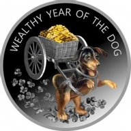 Wealthy Year of the Dog Proof Silver Coin 100 Denars Macedonia 2018