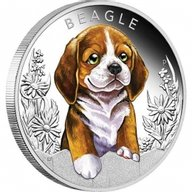 Beagle Puppies Proof Silver Coin 50 Cents Tuvalu 2018