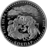 Kazakhstan 2014 500 tenge Kokpar Proof Silver Coin