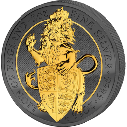 Queen's Beast Golden Enigma Edition 2016 2 oz BU Silver Coin United Kingdom 2016 5 pounds