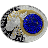 Macedonia 2014 10 Denars Aries  Signs of the Zodiac Proof Silver Coin