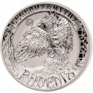 Solomon Islands 2017 5$ Phoenix - Legends and Myths 2 oz Reverse Proof Silver Coin