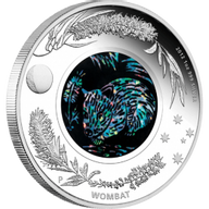 Australia 2012 1$ The Wombat 2012. Australian Opal Series Proof Silver Coin