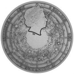 Big Bang Universe 2 oz Antique Finish Meteorite Silver Coin 5$ Niue 2019
