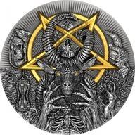 Evil 2 oz Antique finish Silver Coin 2000 Francs Cameroon 2020