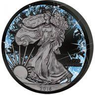 United States 2016 1$ Walking Liberty Deep Frozen Edition 1oz Ruthenium BU Silver Coin