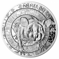 Lunar Year of the Rat 1 oz Proof Silver Coin 20 euro France 2019