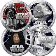 Niue 2011 4 x 2$ Star Wars Darth Vader case 4oz Proof-like Silver Set