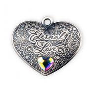 Eternal Love Antique Finish Silver Coin 1$ Solomon Islands