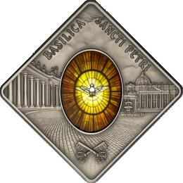 Palau 2011 10$ St. Peters Basilica Sacred Art - Holy Windows UNC Silver coin