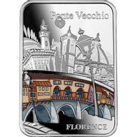 Ponte Vecchio Florence Proof Silver Coin 1000 Francs CFA Cameroon 2021