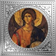 Archangel Michael - Early Byzantine Icon Divine Guardians of Humanity Proof Silver Coin 1$ Niue 2018