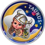 Taurus Baby Zodiac 1/2 oz Proof Silver Coin 2 Cedis Republic of Ghana