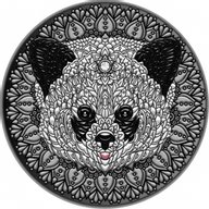 Panda Mandala Collection 2 oz Antique finish Silver Coin 5$ Niue 2021
