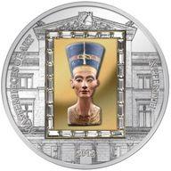 "Cook Islands 2012 20$ ""Nefertiti"" Masterpieces of Art 3 Oz Proof Silver & Gold"