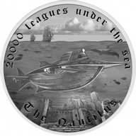 Tuvalu 2014 1$ The Nautilus Famous Ships That Never Sailed Proof Silver Coin
