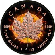 Canada 2016 5$ Maple Leaf Eclipse of the Sun 1oz BU Silver coin