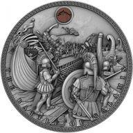 Battle of Salamis Sea Battles 2 oz Antique finish Silver Coin 5$ Niue 2019