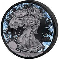 Walking Liberty Deep Frozen Edition 1oz Ruthenium BU Silver Coin 1$ United States 2018