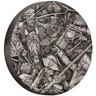 Hussars Warfare 2oz Antique Finish Silver Coin 2$ Tuvalu 2018