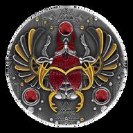 Ruby Scarabaeus 2 oz Antique finish Silver Coin 5$ Niue 2021