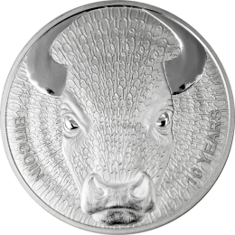 Binary Bull Sol Noctis 1 oz Proof Silver Coin 1 mBTC 2019