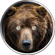 Diamond Bear 1 oz BU Silver Coin 5 Cedis Republic of Ghana 2020
