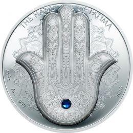 Palau 2016 10$ The Hand of Fatima - Hamsa 2 oz Proof Silver Coin
