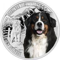 Niue 2015 1$ Bernese Mountain Dog Man's Best Friends Proof Silver Coin