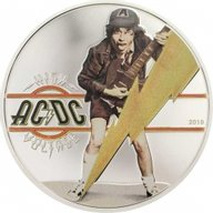 High Voltage AC/DC 1/2 oz Proof Silver Coin 2$ Cook Islands 2018