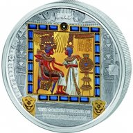 """Cook Islands 2015 20$ """"The Golden Throne"""" Masterpieces of Art 3 oz Proof Silver & Gold"""