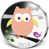 The Faithful Companion - The Little Owl Proof-like Silver Plated CuNi Coin 5$ Samoa 2018