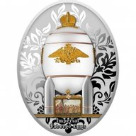Steel Military Egg Imperial Faberge Eggs Proof Silver Coin 1$ Niue 2020