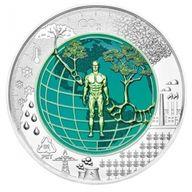 Anthropozän BU Niobium Silver Coin 25€ Austria 2018