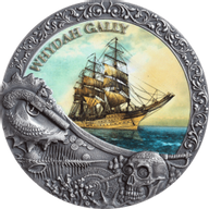 Whydah Gally Grand Shipwrecks in a History 2 oz Antique finish Silver Coin 5$ Niue 2019
