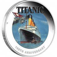 RMS Titanic Transatlantic White Star Line Proof Silver Coin 1$ Tuvalu 2012