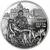 Pieta Masterpiece of Sculpture Art 2 oz Black Proof Silver Coin 5$ Niue 2019