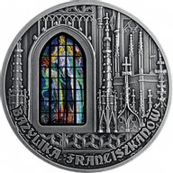 Basilica of St. Francis of Assisi in Cracow 2 oz Antique finish Silver Coin 2000 Francs CFA Cameroon 2019